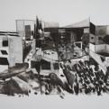 sans titre, dessin gran dformat, pierre noir et crayon sur papier, 2013